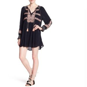 FREE PEOPLE Wind Willow Embroidered  Dress NWT S